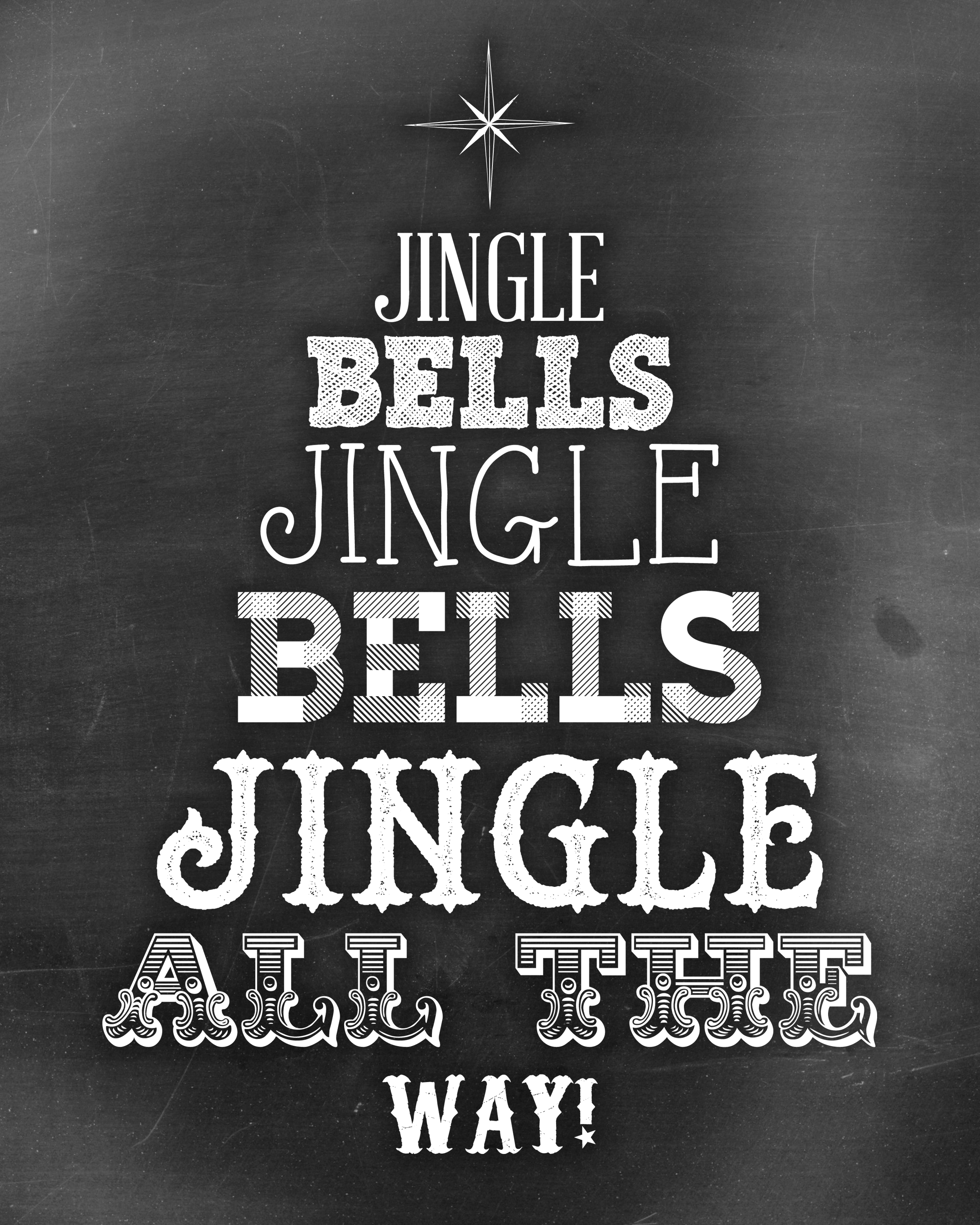 Jingle Bells Chalkboard Art