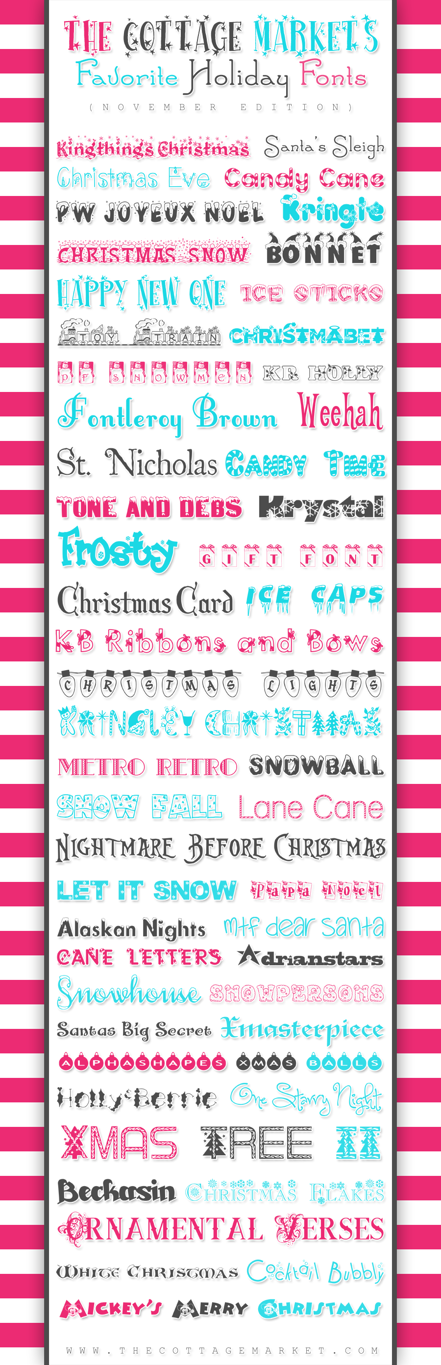 50 Free Holiday Fonts