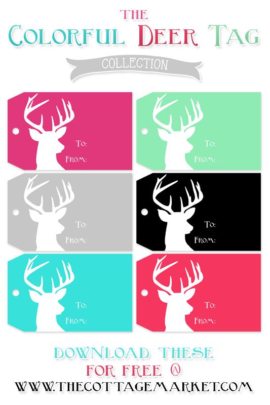 TheCottageMarket-Holiday-Deer-Tag-Colorful-tower