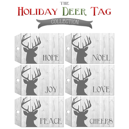 Free Printable Deer Gift Tags