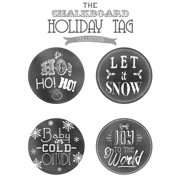 FREE Holiday Printable Chalkboard Tags