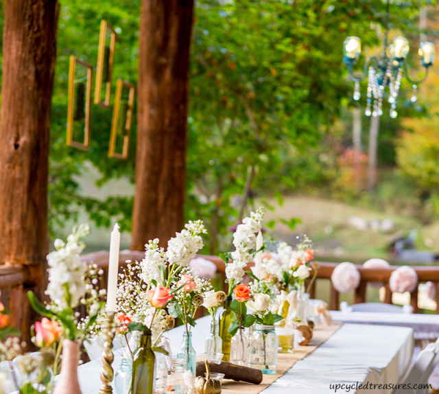 cabin-wedding-reception-set-up-upcycledtreasures