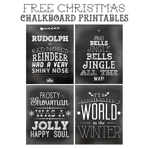 Free Printable Christmas Chalkboard Art
