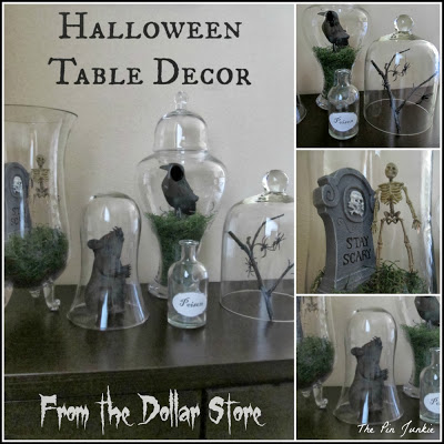 dollar store halloween decorating