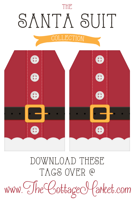 Free Printable Santa Suit Holiday Gift Tags ...a Gift to you from The ...