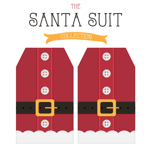 Free Printable Santa Suit Holiday Gift Tags …a Gift to you from The Cottage Market