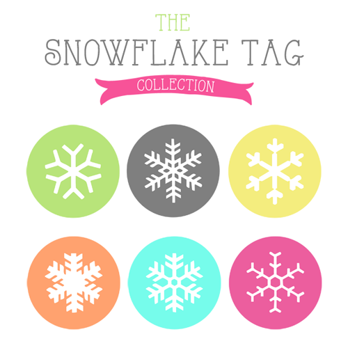 free printable snowflake gift tags the cottage market