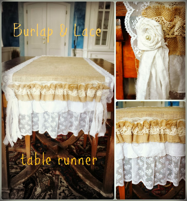 table runner b urlap and lace