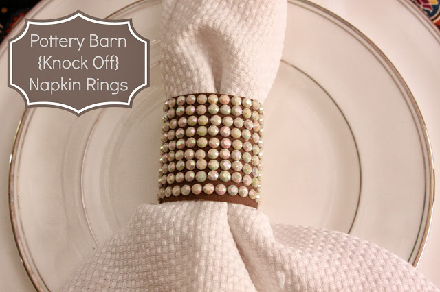 these DIY napkin rings will fancy up any dinner party and they're a simple DIY project