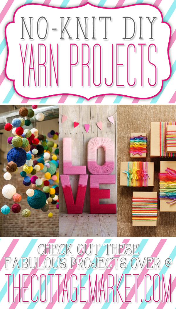 diy yarn projects no knit diy yarn projects the cottage market