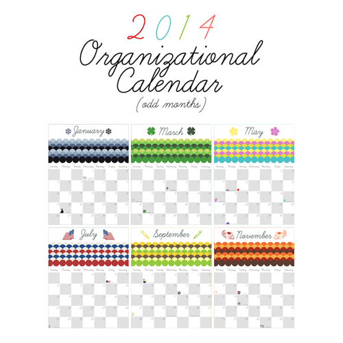 graphic regarding Printable Organization known as Free of charge Printable Organizational Calendar a Contemporary Many years Present in direction of