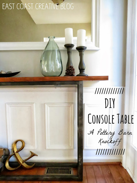 This DIY console table is a fun DIY project that will look great in an entry hall way