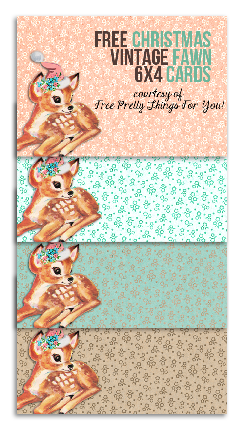 free-vintage-fawn-4x6-cards