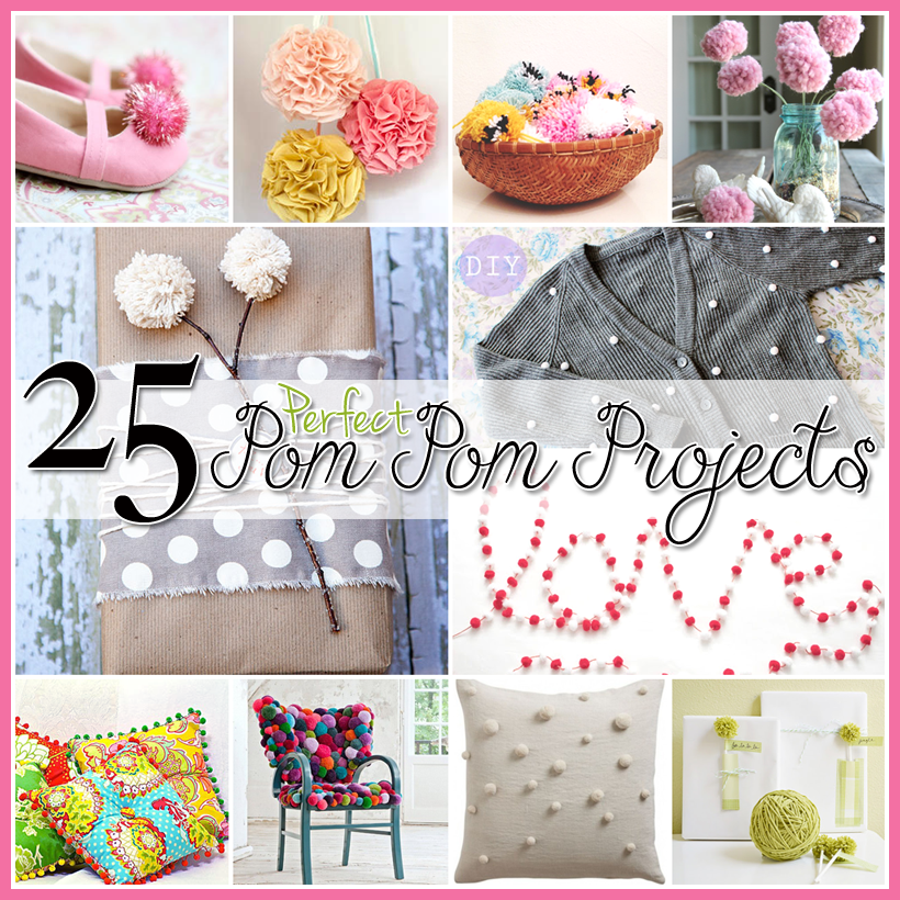25 Cute Diy Home Decor Ideas: 25 Pom Pom DIY Projects Home Decor, Clothes And Great FUN