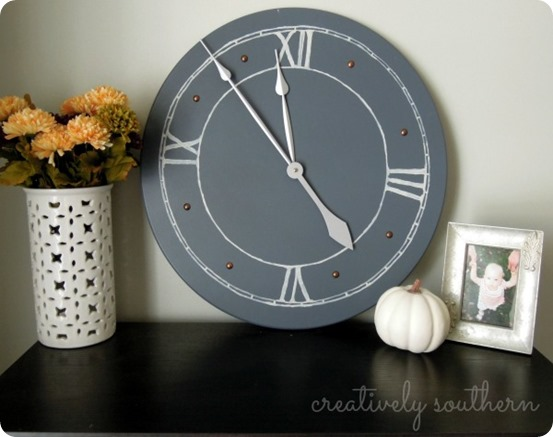 This DIY clock is a simple project you can recreate at home