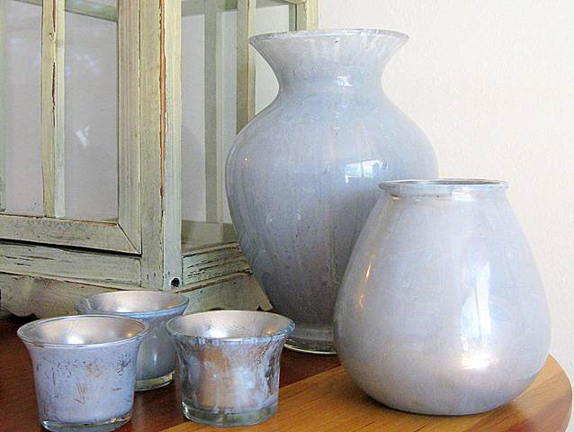 Mercury glass vases are popular accessories, this DIY project makes it easy for you to have your own