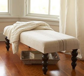 This Pottery Barn inspired ottoman is a DIY project that will be much easier on your budget