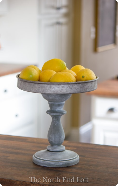 This rustic knock-off galvanized metal stand is the perfect kitchen accessory