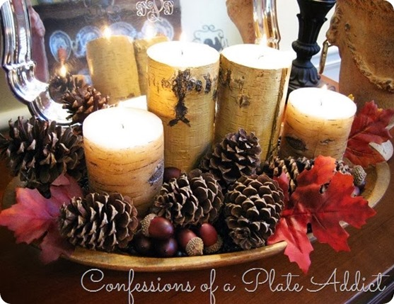 This gorgeous holiday centerpiece is the perfect autumn addition to your holiday decor