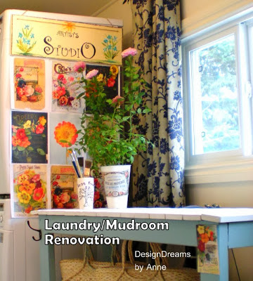 Floral Mudroom Makeover