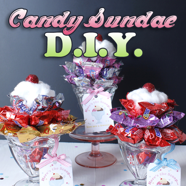Candy Sundae DIY Project Perfect for Valentine's Day