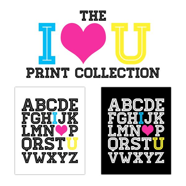 Free Printable I LOVE You Print Collection