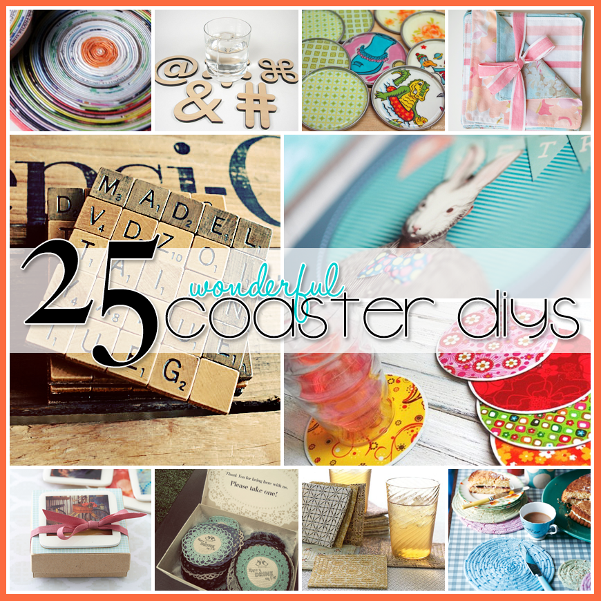 25 Wonderful Coaster DIY Projects - The Cottage Market