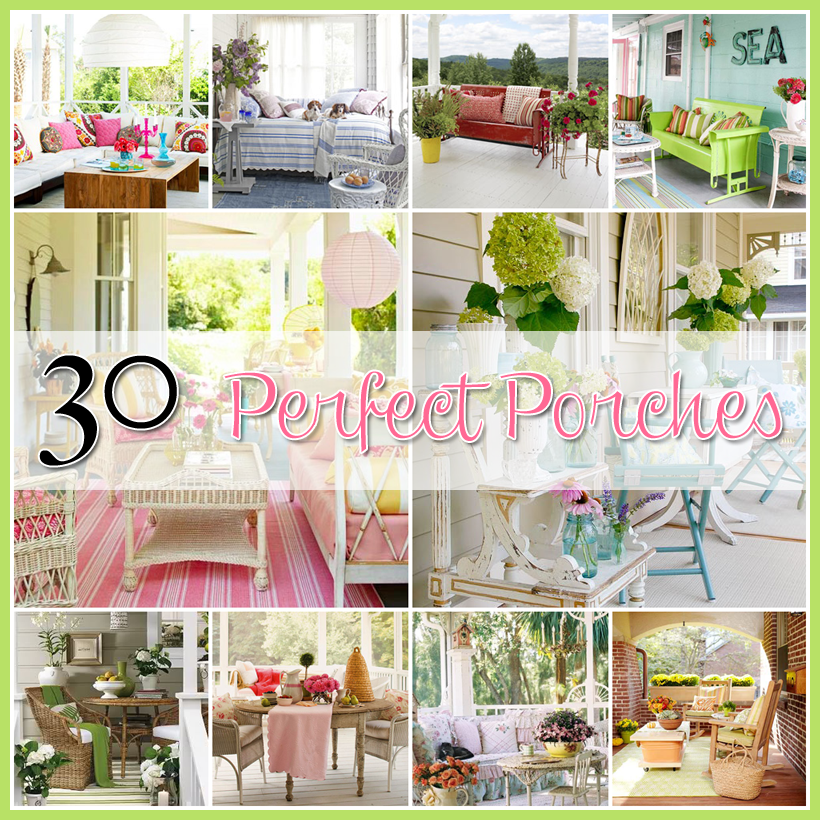 Porch decor 30 perfect porches the cottage market for Patio decoration images