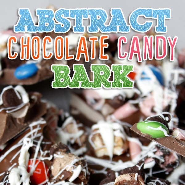 Abstract Chocolate Candy Bark