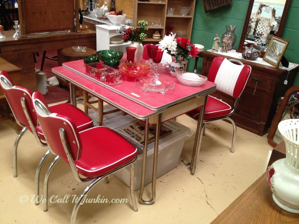 red retro kitchen table and chairs red kitchen table Awesome Diy Projects And Party Time With Junkin Joe The Cottage Red Retro Kitchen Table