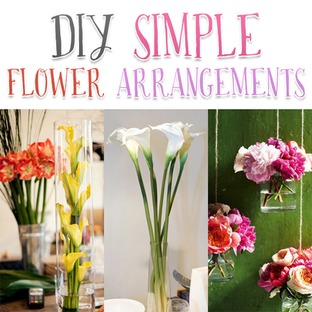 Simple Flower Arrangements Cool Diy Simple Flower Arrangements  The Cottage Market Design Decoration