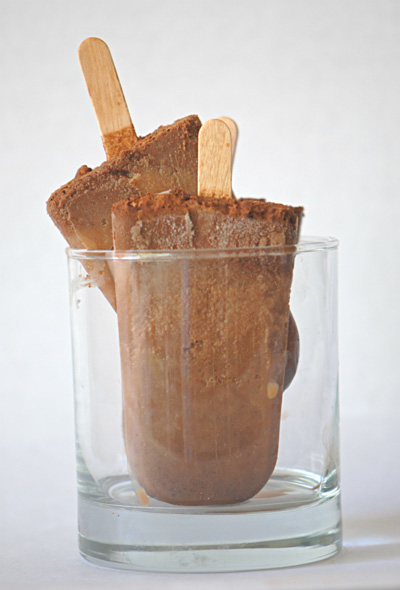 Ana Fernandez...Melted Chocolate Frozen Pops