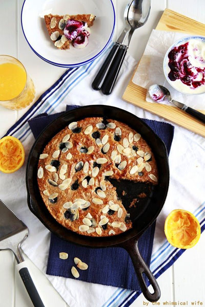 The Whimsical Wife...Blueberry Skillet Cake