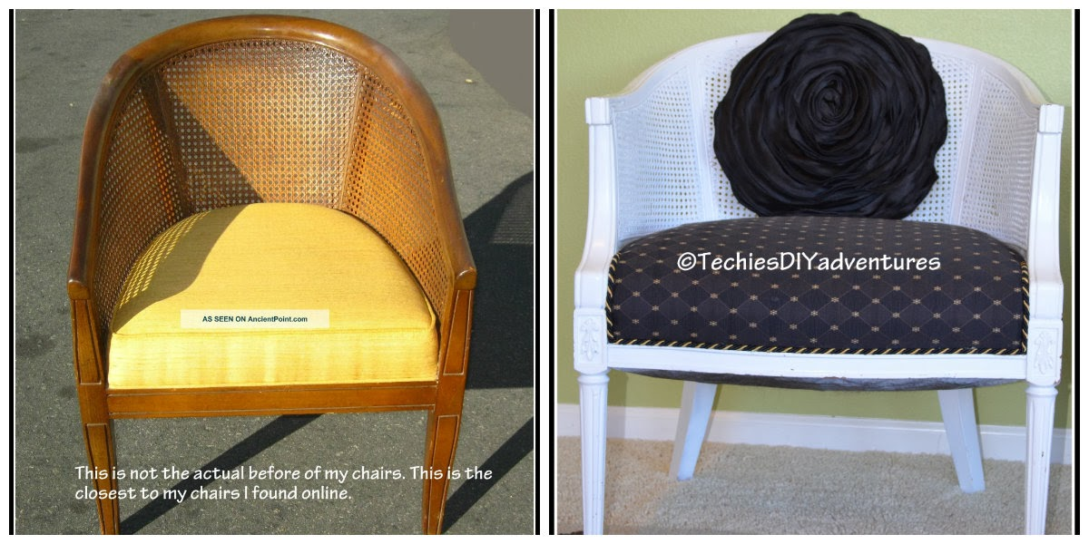 cane chair before and after