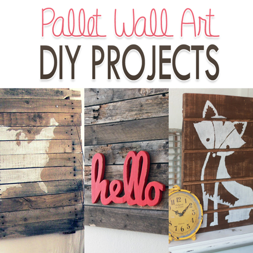Diy Pallet Wall Art Project Tutorials The Cottage Market