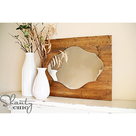 Shanty 2 Chic - this DIY Mirror Pallet is a gorgeous addition to a bedroom or bathroom