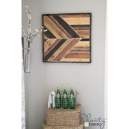 Shanty 2 Chic...DIY Wall Art - Pallet Design