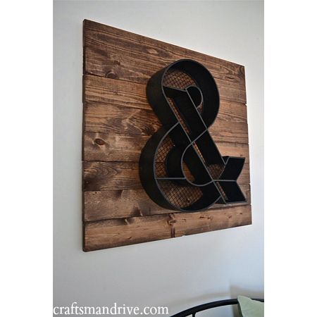 This pallet wall art by Craftsman Drive is a great accent piece for any room
