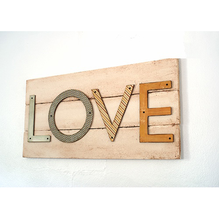 Saved by Love Creations made this simple LOVE pallet wall art sign with foam letters