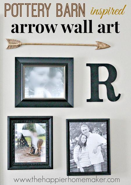 The Happier Homemaker...Pottery Barn Inspired Wall Arrow