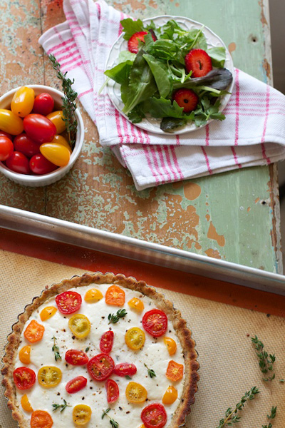 Family Fresh Cooking...Rustic Tomato and Cheese Margherita Tarts