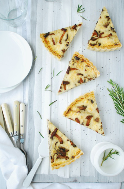 Inspiring the Everyday...Savory Mushroom Tart