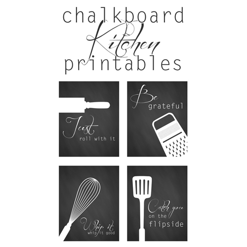 photo about Free Printable Kitchen Art called Free of charge Kitchen area Artwork Printables - The Cottage Industry
