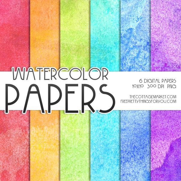 Free Digital Watercolor Scrapbooking Paper