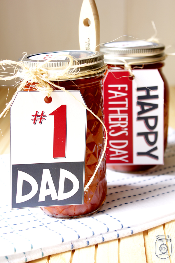 Spicy Barbeque Sauce Recipe Printable Fathers Day Tags/Label