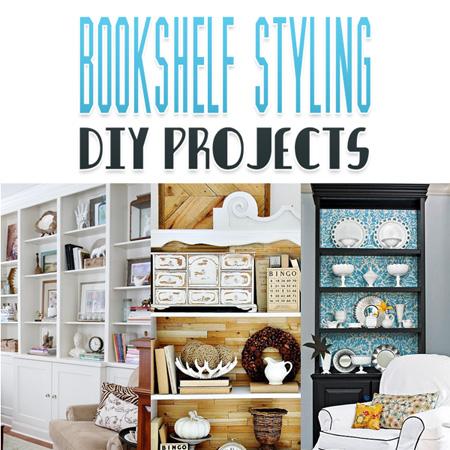 Bookshelf Styling DIY Projects