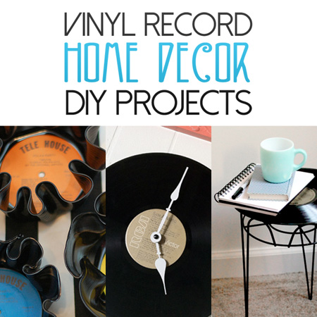 vinyl record home decor diy projects the cottage market. Black Bedroom Furniture Sets. Home Design Ideas