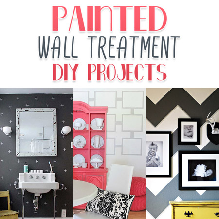 Painted Wall Treatment DIY Projects