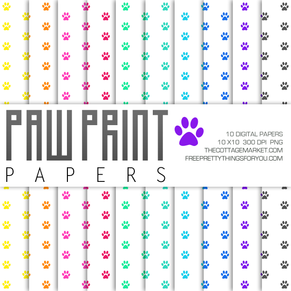Our Work View Our Digital Print Web Projects: Free Paw Print Digital Paper Pack Part 1