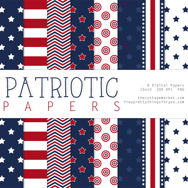Free Patriotic Digital Paper Pack